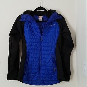 Avalanche Fitted Zip Front Black & Blue Jacket